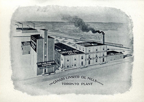 Linseed (flax) mill on Wabash Avenue