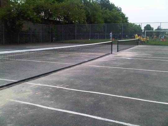 New tennis nets at Sorauren Park
