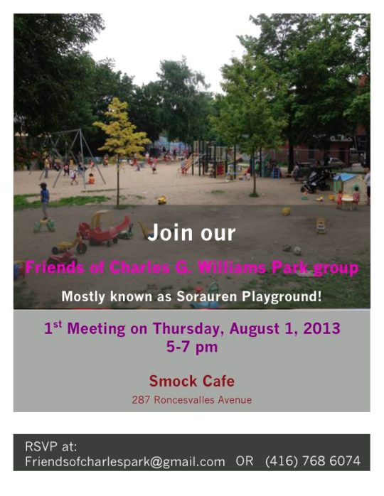 Flyer for the new Friends of Charles G. Williams Park