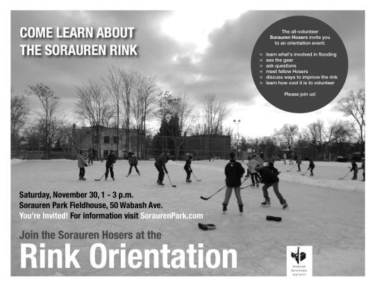 Sorauren Ice Rink Orientation poster