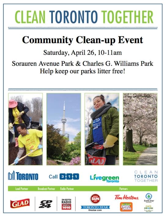 Clean Toronto Sorauren 2014 poster