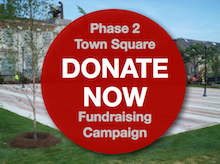 Image of new Town Square with Donate Now button