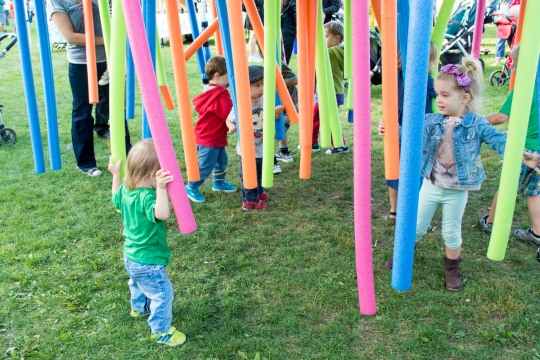 The Noodle Maze in the Kids Zone. Does it get any better? Photo by Erin Hatfield