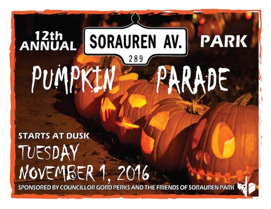 Sorauren Park Pumpkin Parade returns Nov. 1