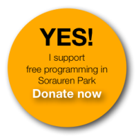 Graphic button for making a donation