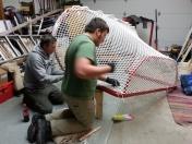 Jarek and Lucas re-meshing the nets